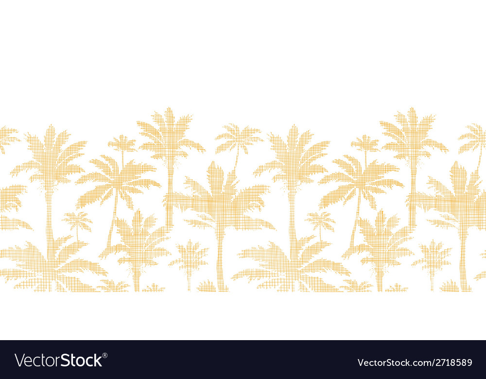 Palm trees golden textile horizontal seamless vector | Price: 1 Credit (USD $1)