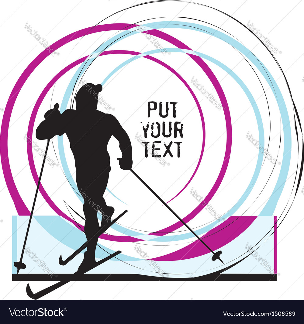 Skiing vector   Price: 1 Credit (USD $1)