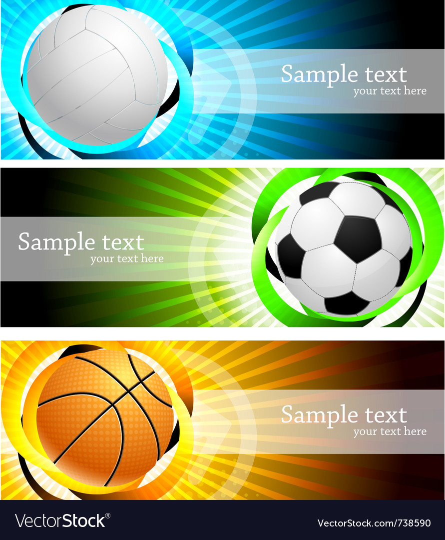 Banners with ball vector | Price: 3 Credit (USD $3)