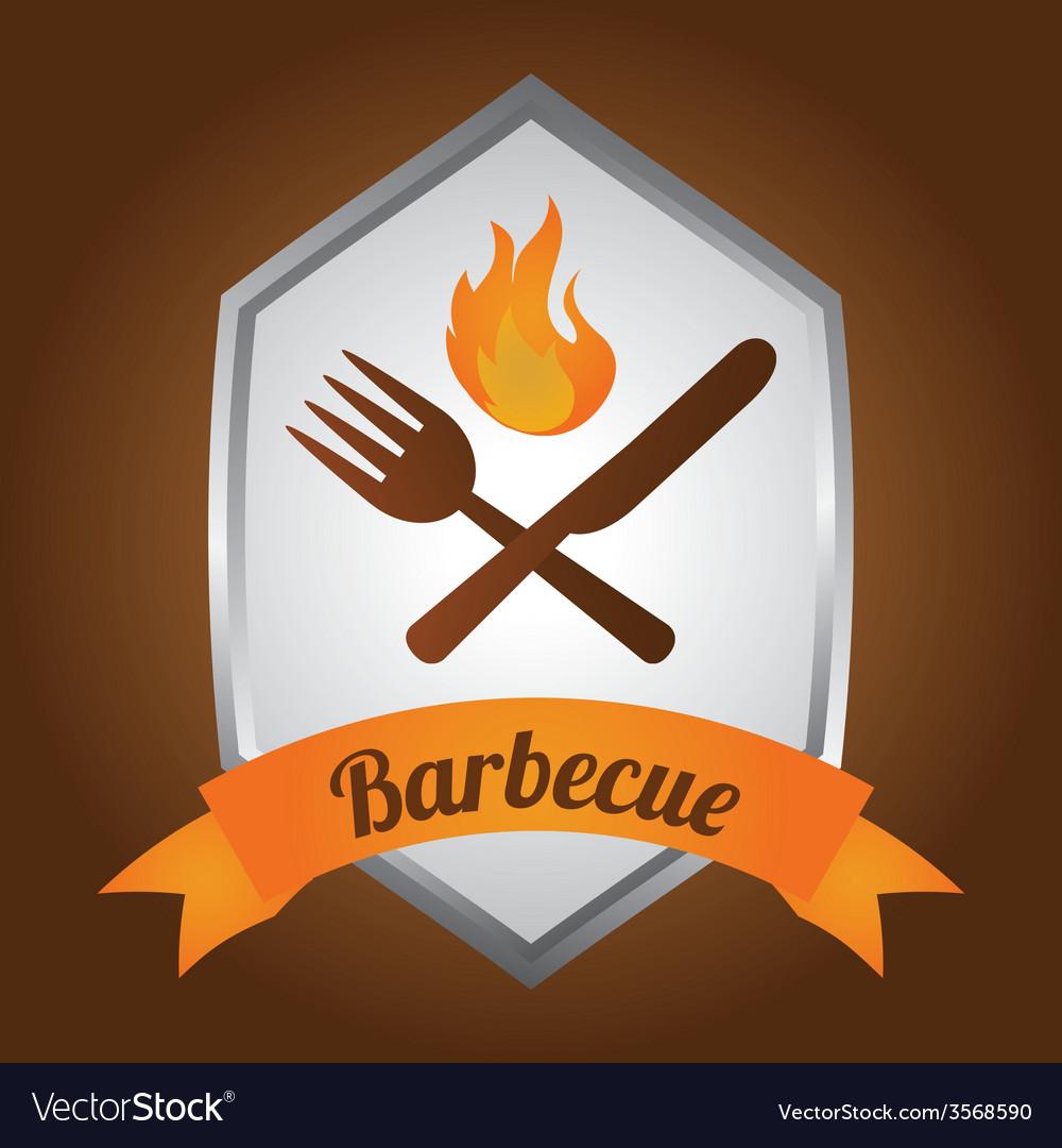 Barbecue label vector   Price: 1 Credit (USD $1)