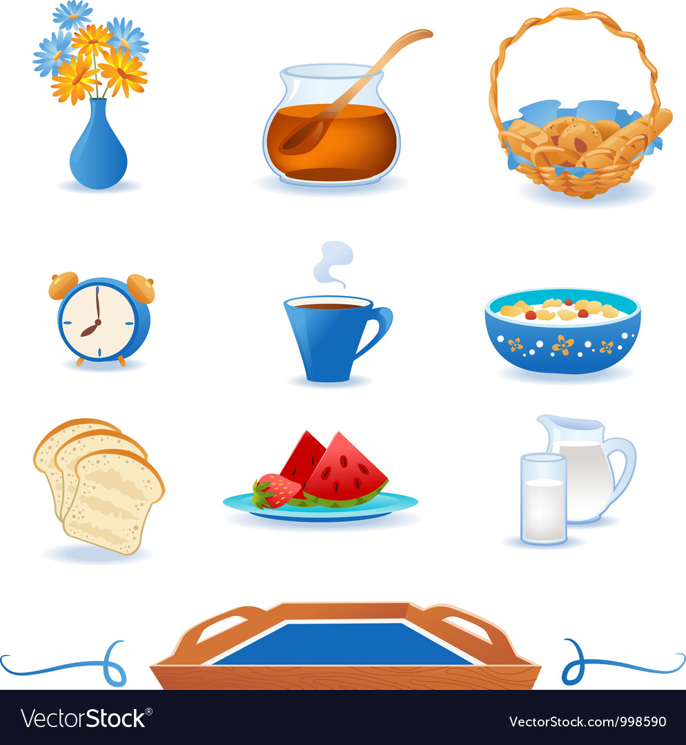 Breakfast icons set vector | Price: 1 Credit (USD $1)