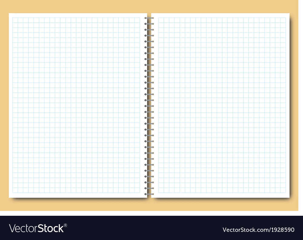 Open notebook vector | Price: 1 Credit (USD $1)