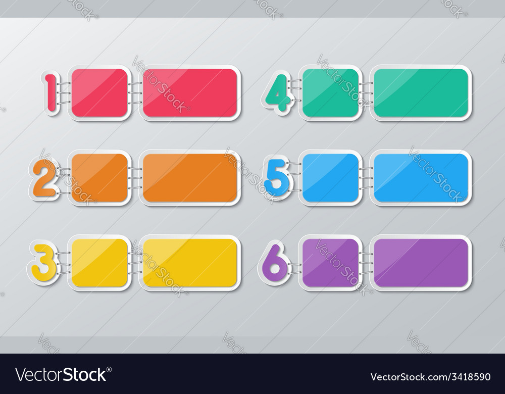 Paper six step infographics vector | Price: 1 Credit (USD $1)