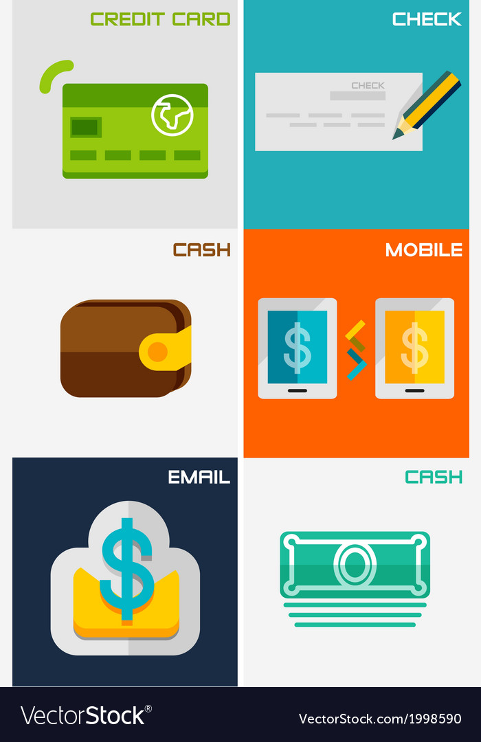 Set of flat design concepts - payment methods vector | Price: 1 Credit (USD $1)