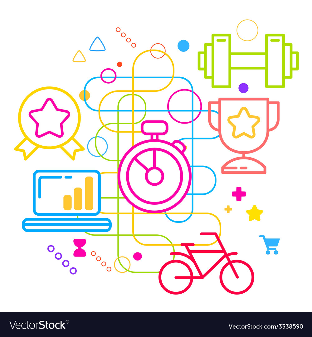 Symbols of sports achievements and awards on vector   Price: 3 Credit (USD $3)