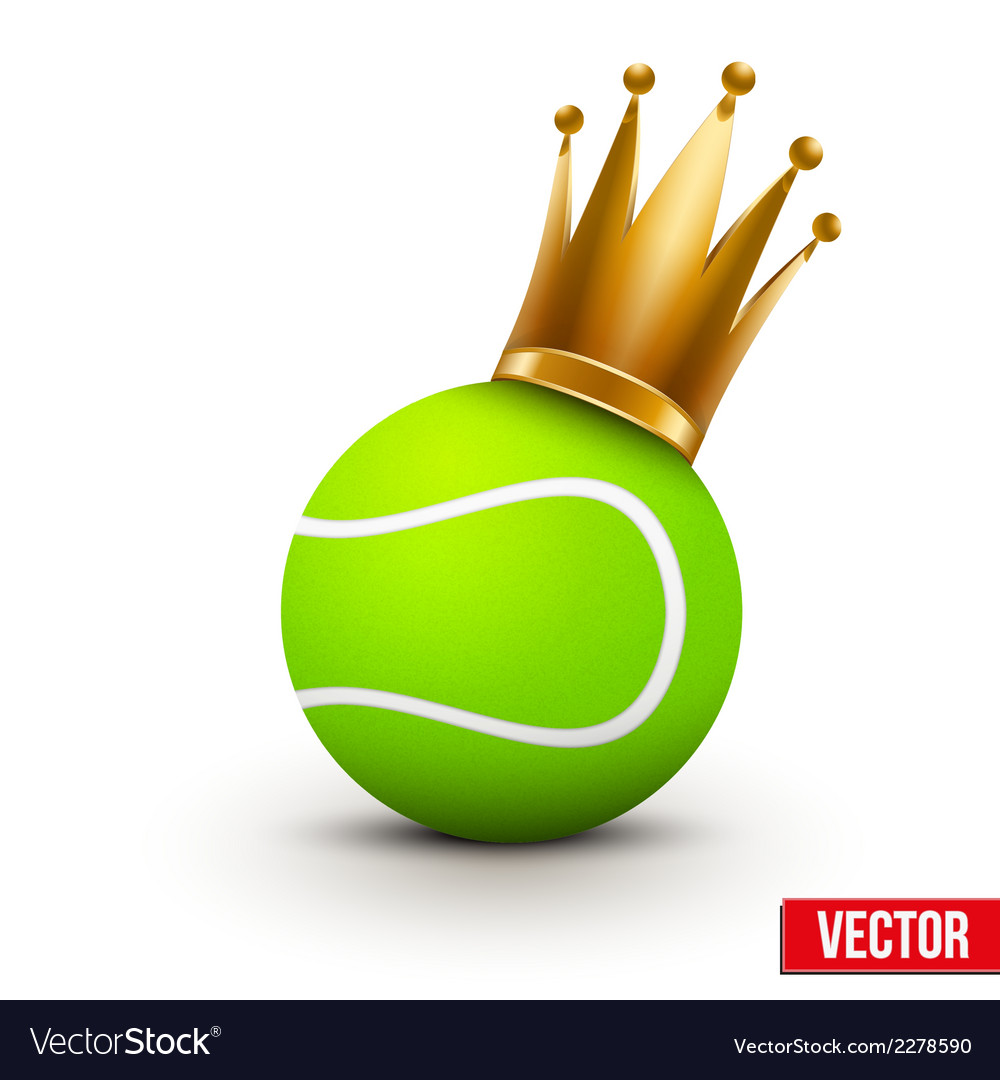 Tennis ball with royal crown of princess vector | Price: 1 Credit (USD $1)