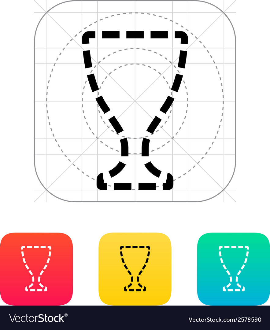 Trophy cup silhouette icon vector | Price: 1 Credit (USD $1)