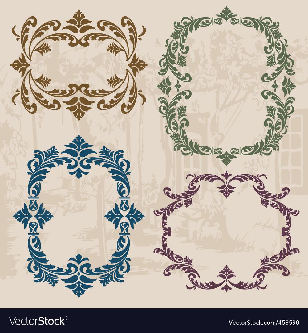 Vintage ornaments set02 vector | Price: 1 Credit (USD $1)
