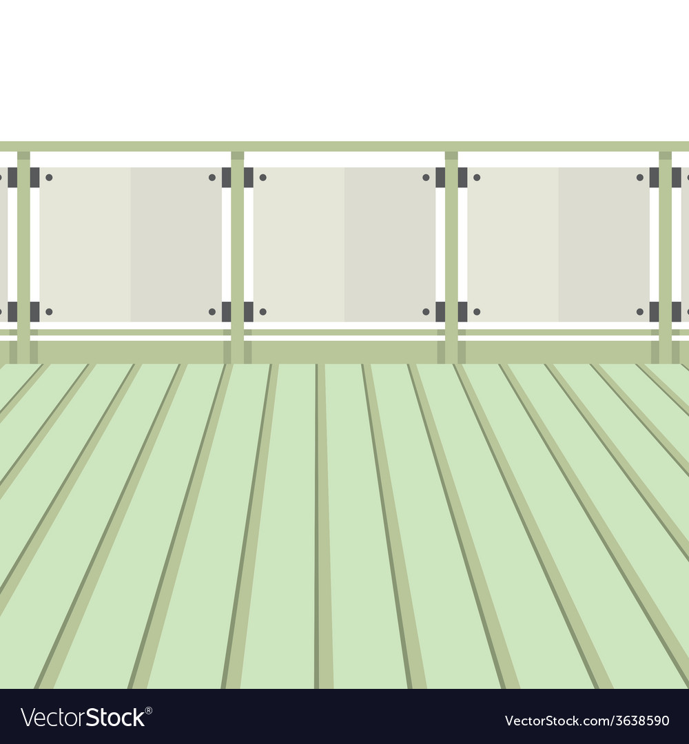 Wooden balcony with wooden floor vector | Price: 1 Credit (USD $1)
