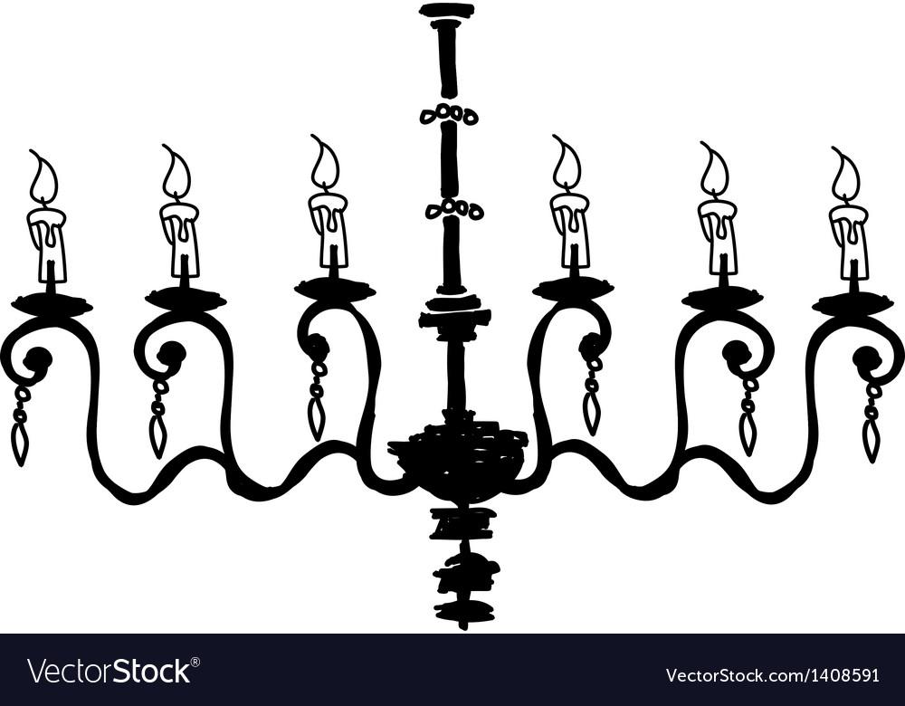 A hanging chandelier vector | Price: 1 Credit (USD $1)