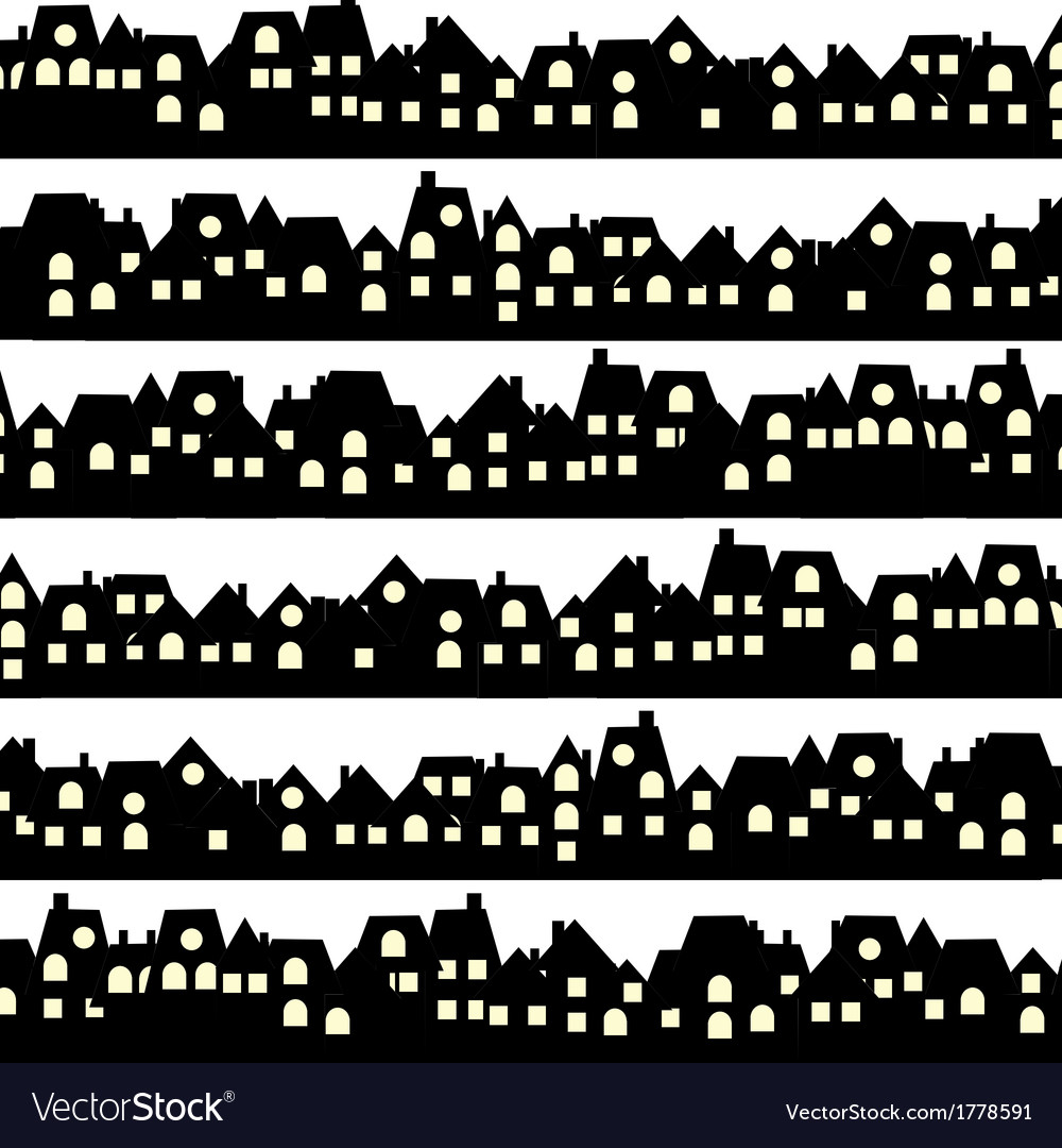 Background with black doodle houses vector | Price: 1 Credit (USD $1)