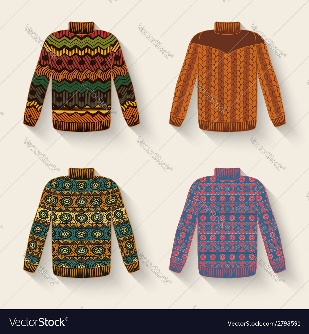 Cute sweater set vector | Price: 1 Credit (USD $1)