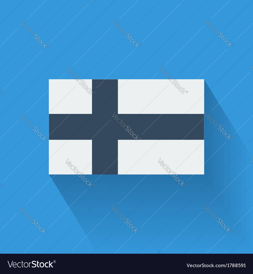 Flat flag of finland vector | Price: 1 Credit (USD $1)