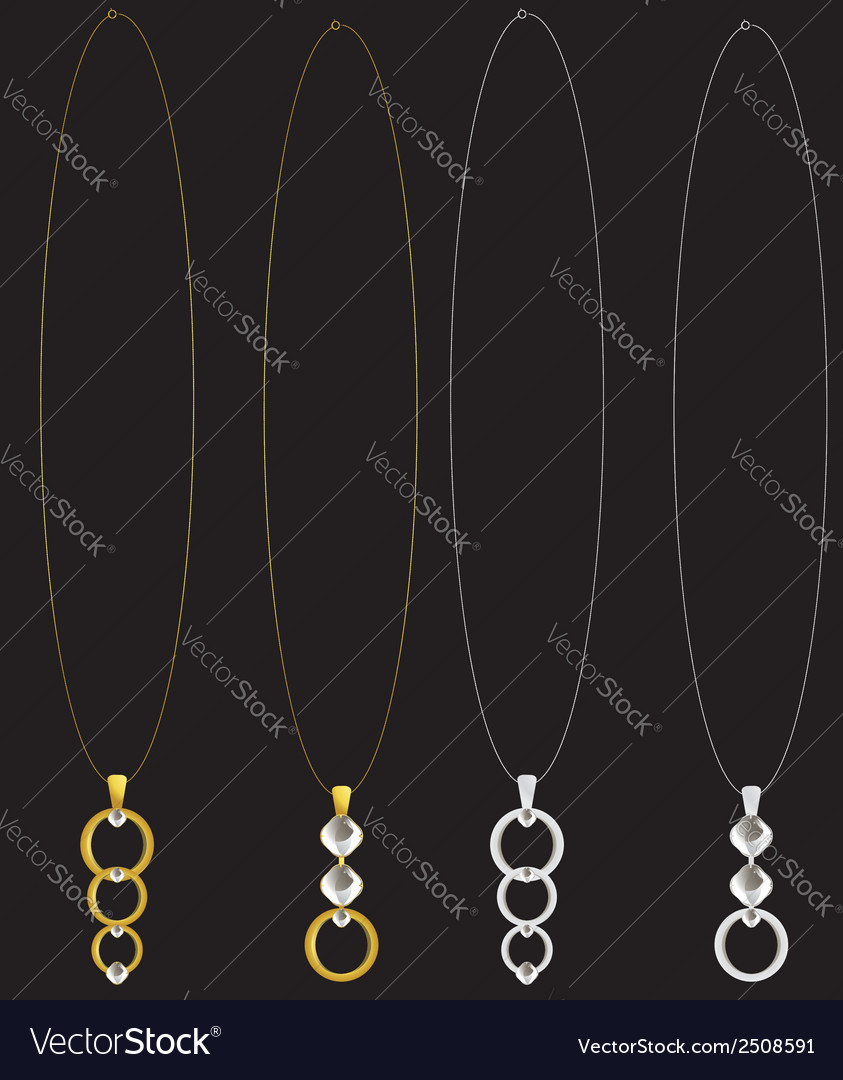 Gold and silver necklaces vector | Price: 1 Credit (USD $1)