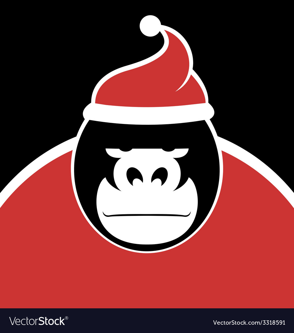 Gorilla santa vector | Price: 1 Credit (USD $1)