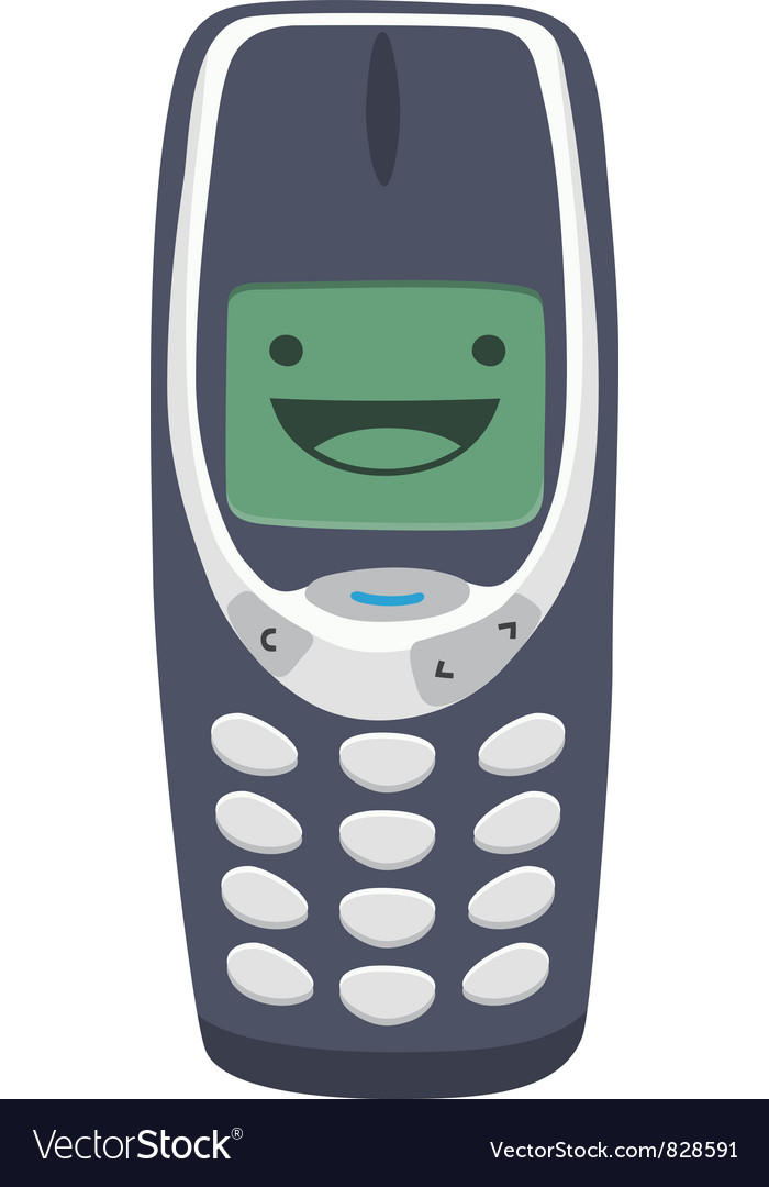 Happy mobile phone vector | Price: 1 Credit (USD $1)