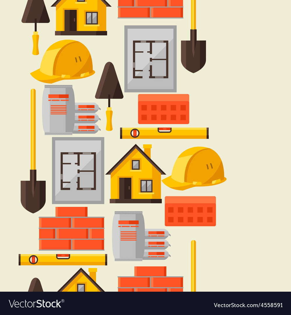 Industrial seamless pattern with housing vector | Price: 1 Credit (USD $1)
