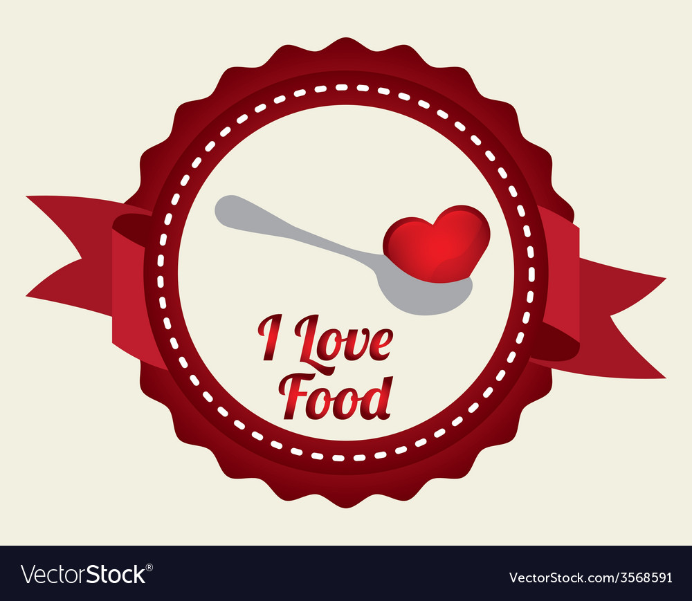 Love food vector | Price: 1 Credit (USD $1)