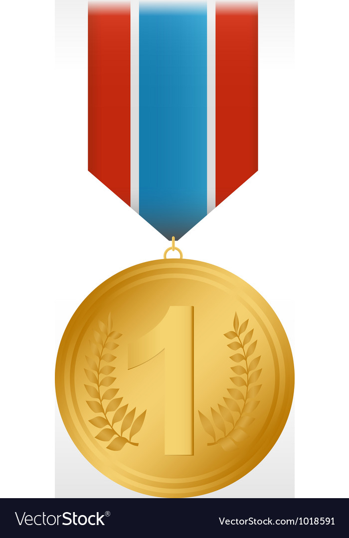Medal gold vector | Price: 3 Credit (USD $3)