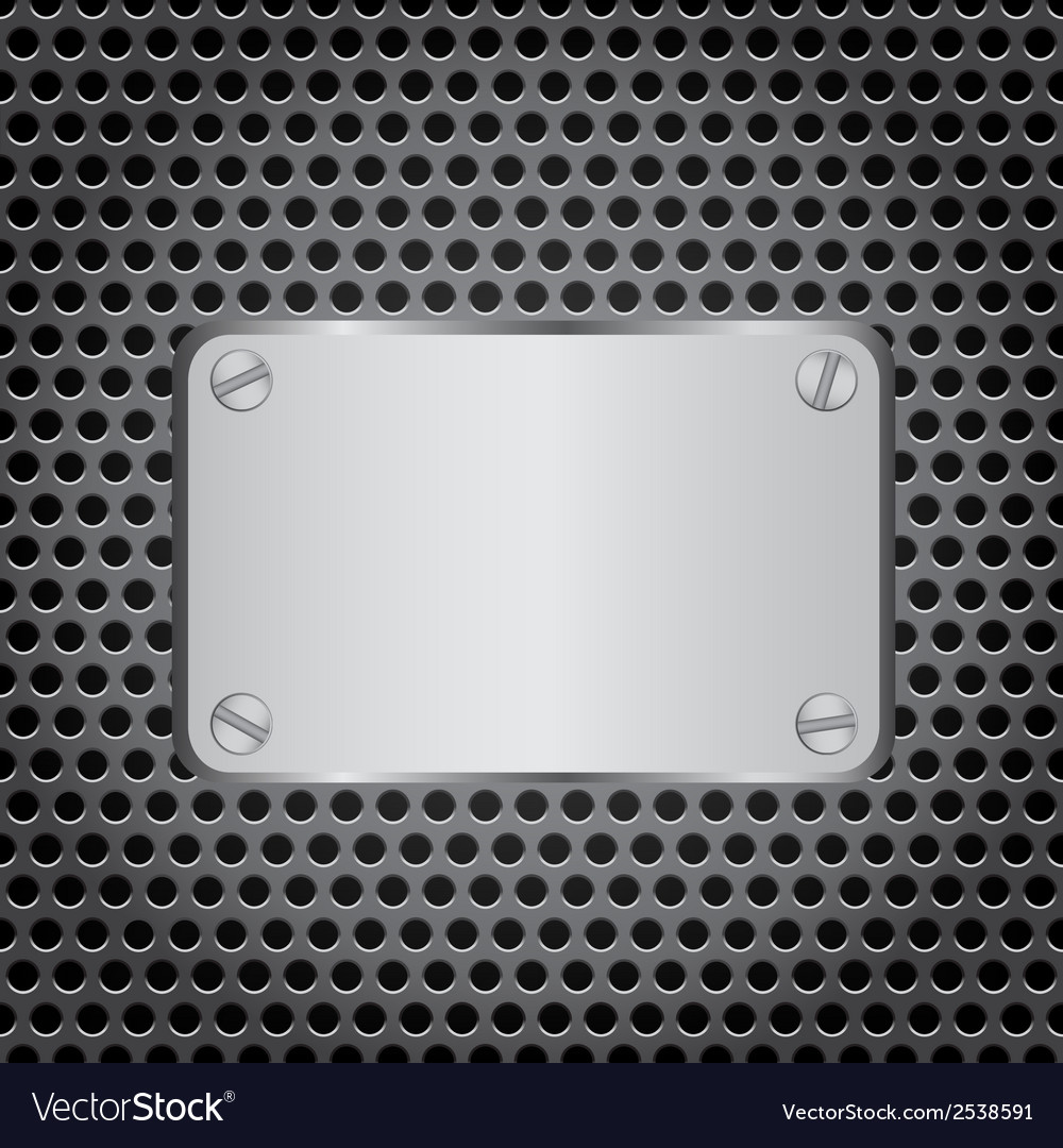 Metal label grid background vector | Price: 1 Credit (USD $1)