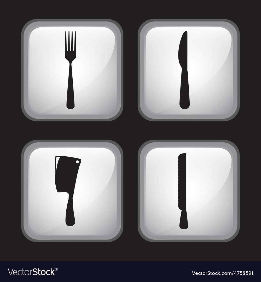 Set cutlery vector | Price: 1 Credit (USD $1)