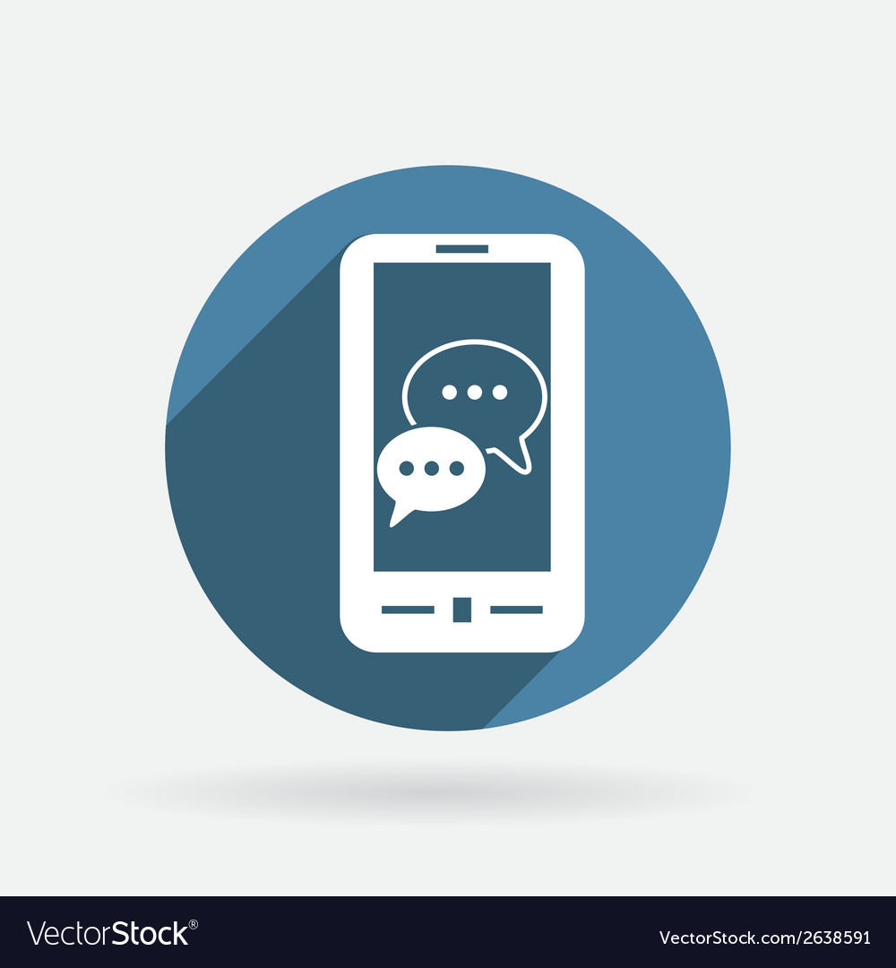 Smartphon cloud of speaking dialogue vector | Price: 1 Credit (USD $1)