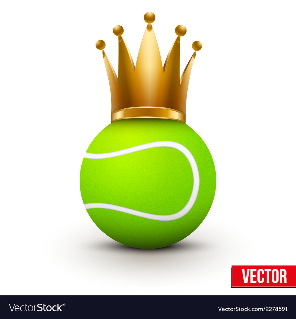 Tennis ball with royal crown of queen vector | Price: 1 Credit (USD $1)