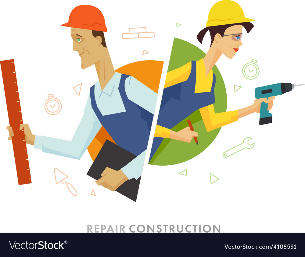 Worker male and female user symbol vector | Price: 1 Credit (USD $1)