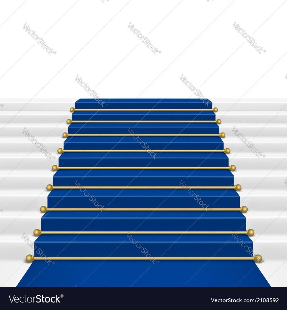 Blue carpet vector | Price: 1 Credit (USD $1)