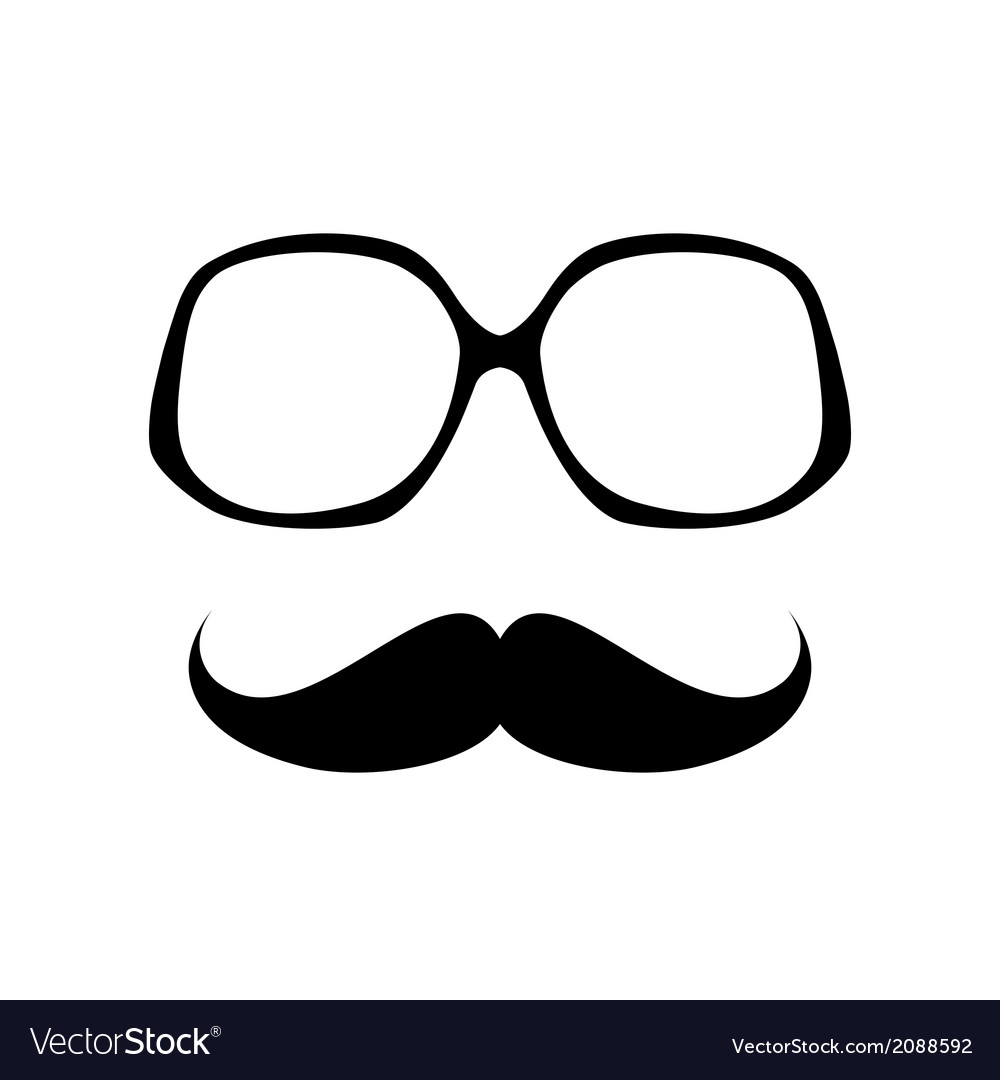 Glasses with mustache vector | Price: 1 Credit (USD $1)