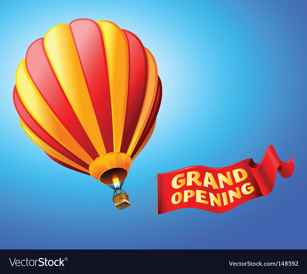 Grand opening vector | Price: 1 Credit (USD $1)