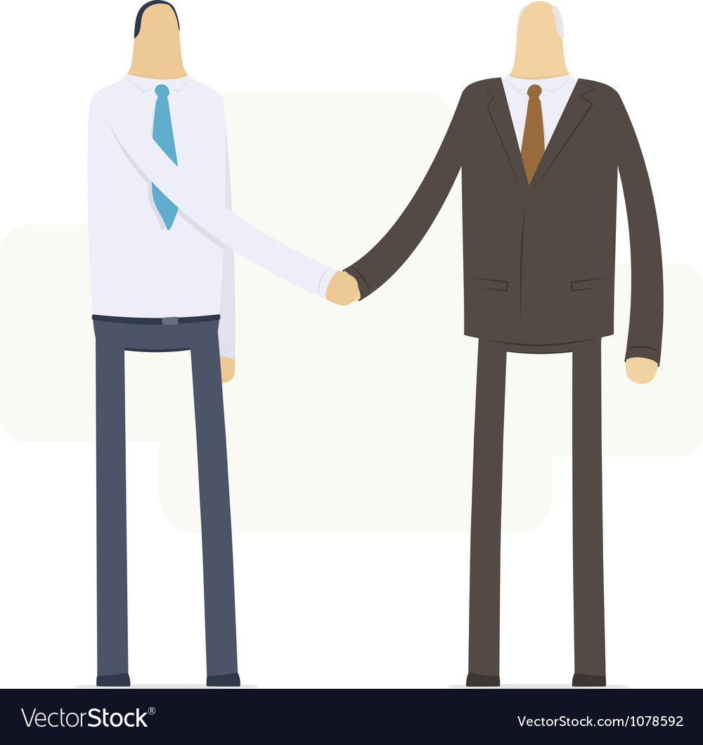 Handshake employee and boss vector | Price: 3 Credit (USD $3)
