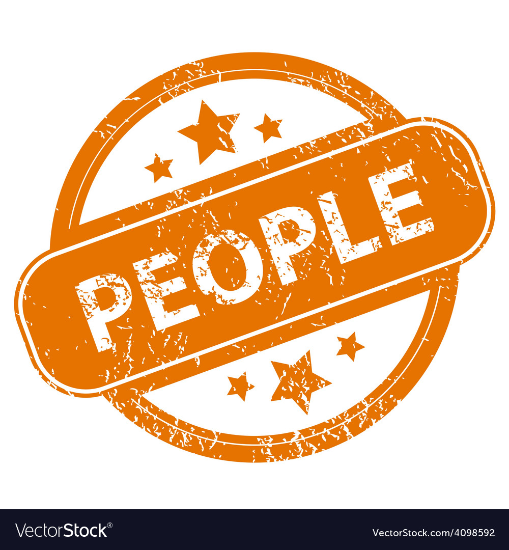 People grunge icon vector | Price: 1 Credit (USD $1)