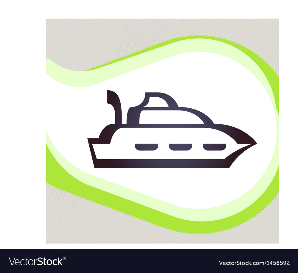 Ship retro-style emblem icon pictogram eps 10 vector | Price: 1 Credit (USD $1)