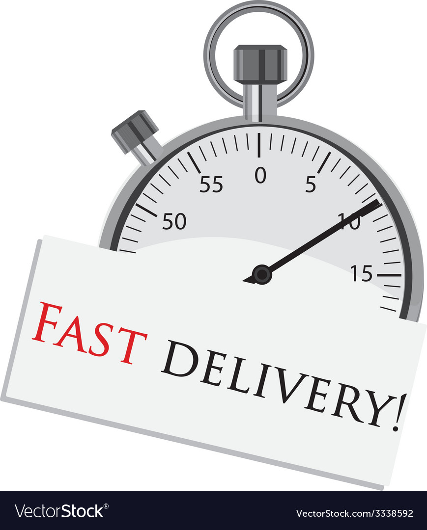 Stopwatch fast delivery vector | Price: 1 Credit (USD $1)