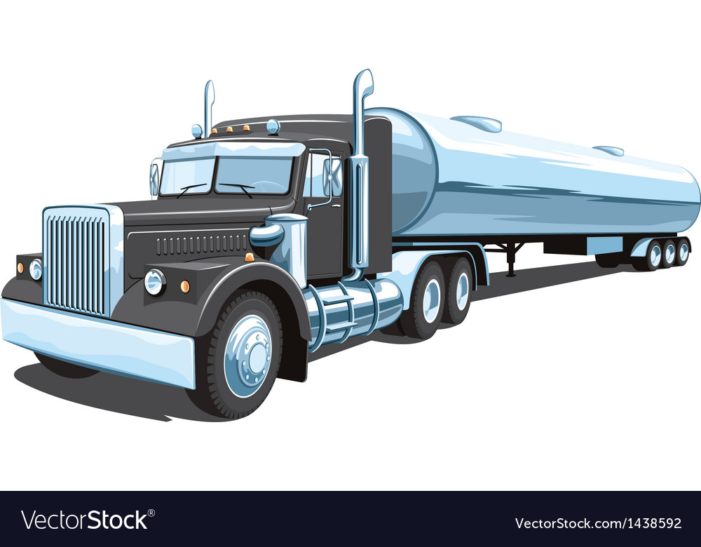 Tanker truck vector | Price: 3 Credit (USD $3)
