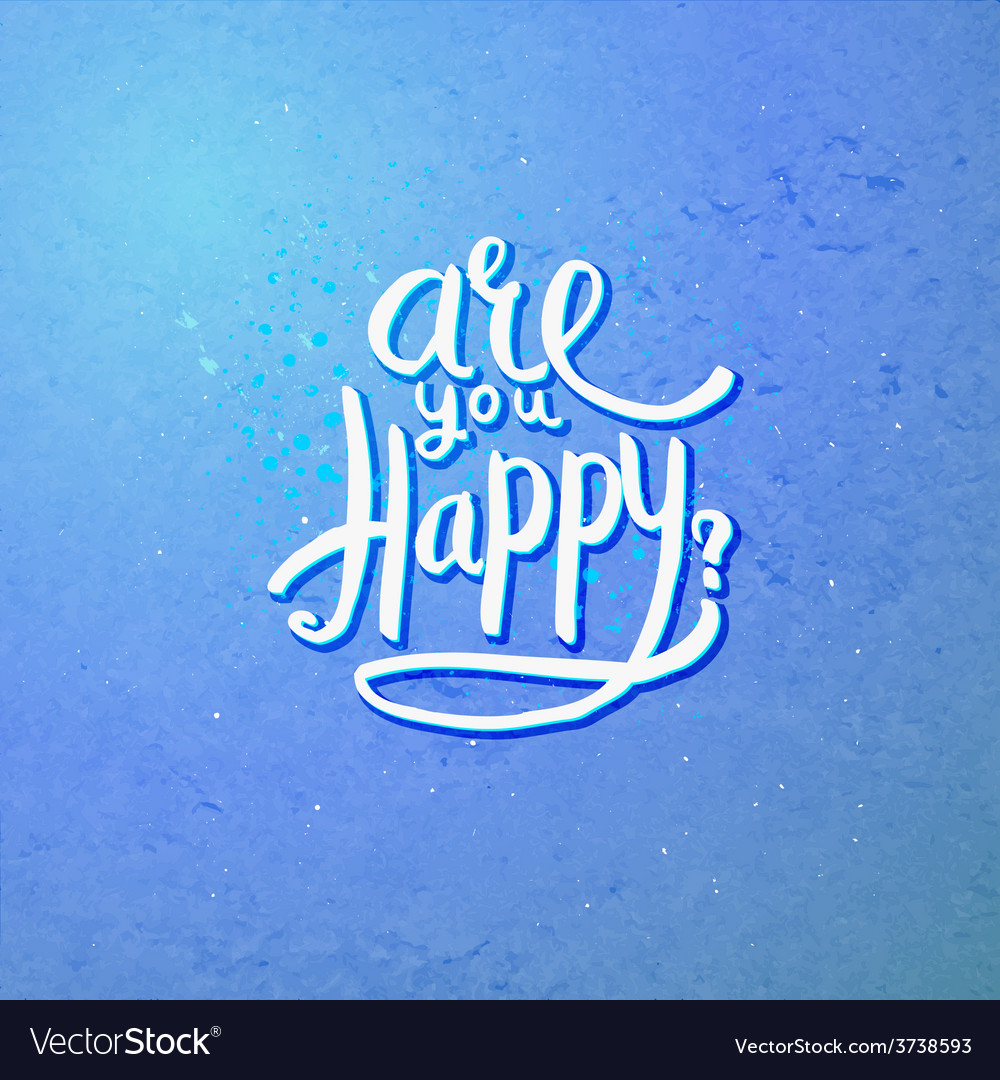 Are you happy concept on blue violet background vector | Price: 1 Credit (USD $1)