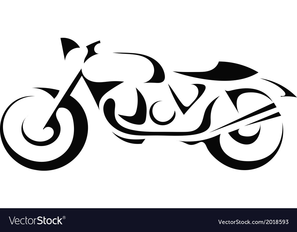 Black silhouette of a motorcycle vector | Price: 1 Credit (USD $1)