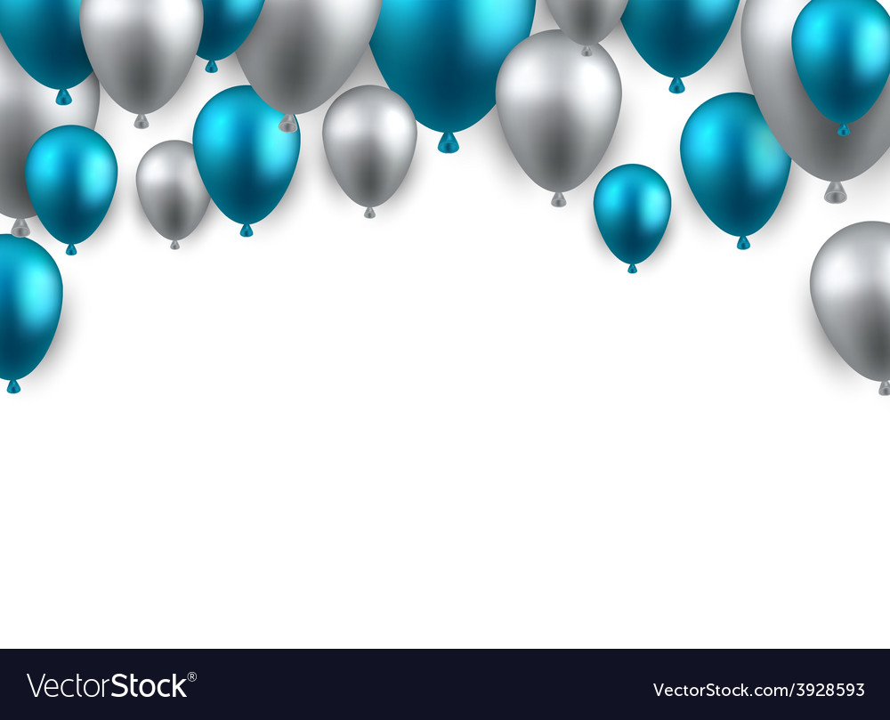 Celebrate arch background with balloons vector | Price: 1 Credit (USD $1)
