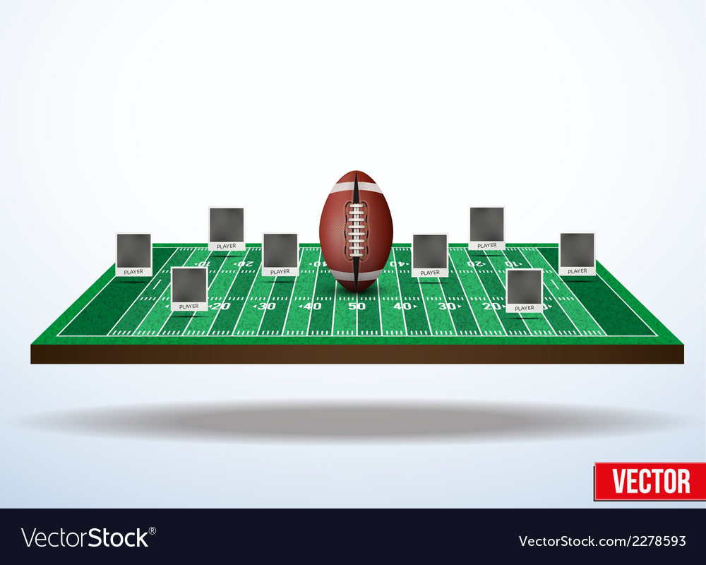 Concept participants playing american football vector | Price: 1 Credit (USD $1)
