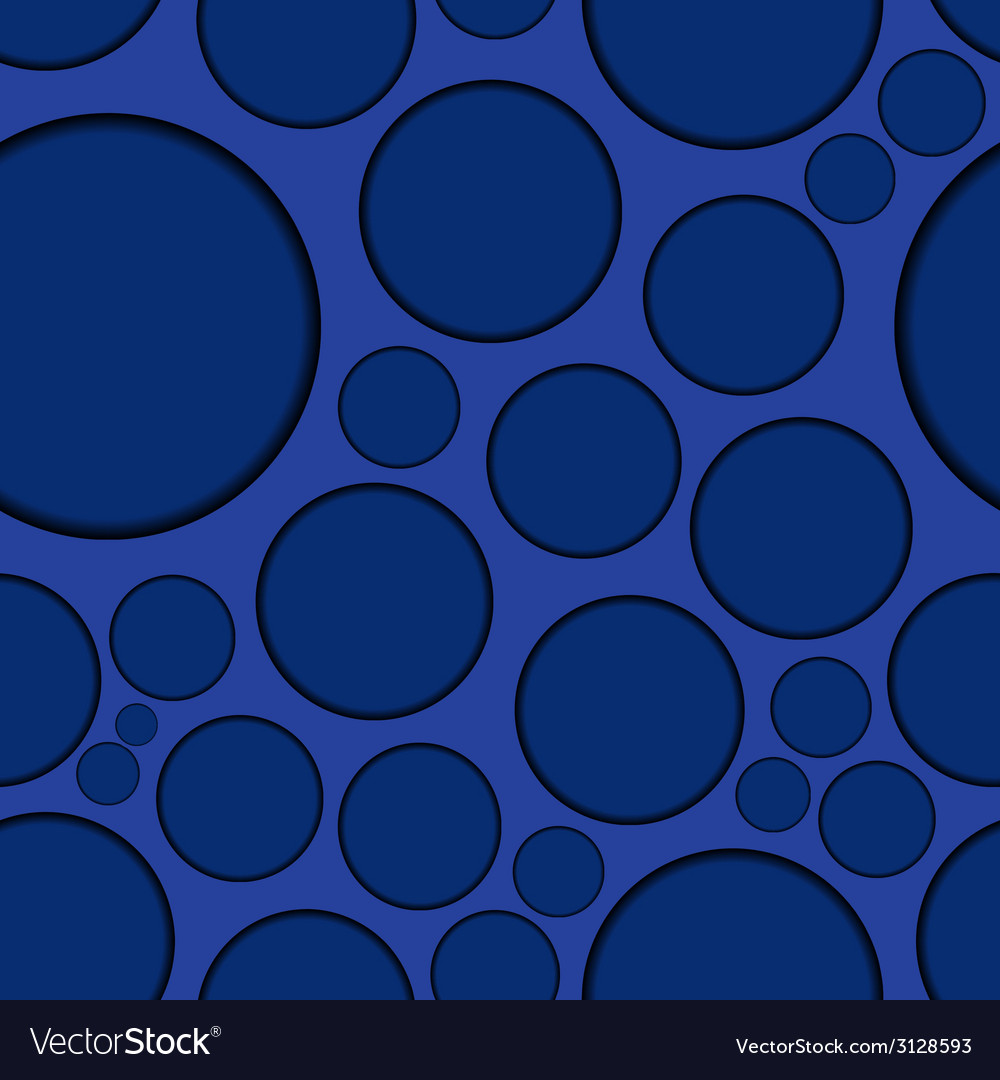 Dark blue background with round shapes seamless vector | Price: 1 Credit (USD $1)