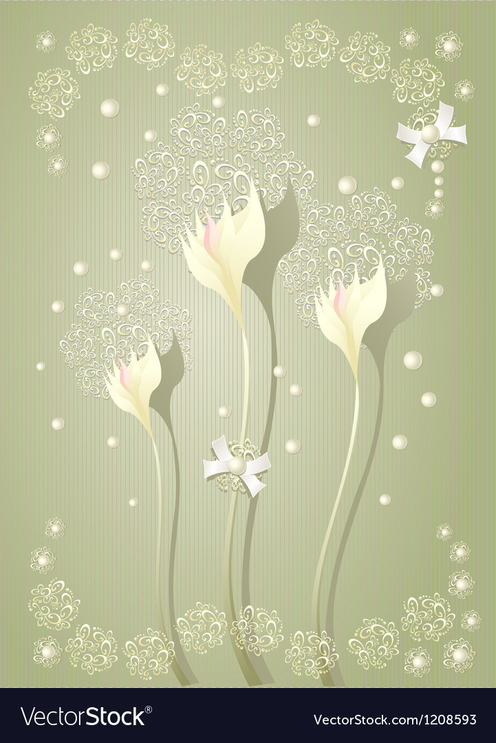 Elegant light scrapbooking floral background vector | Price: 1 Credit (USD $1)