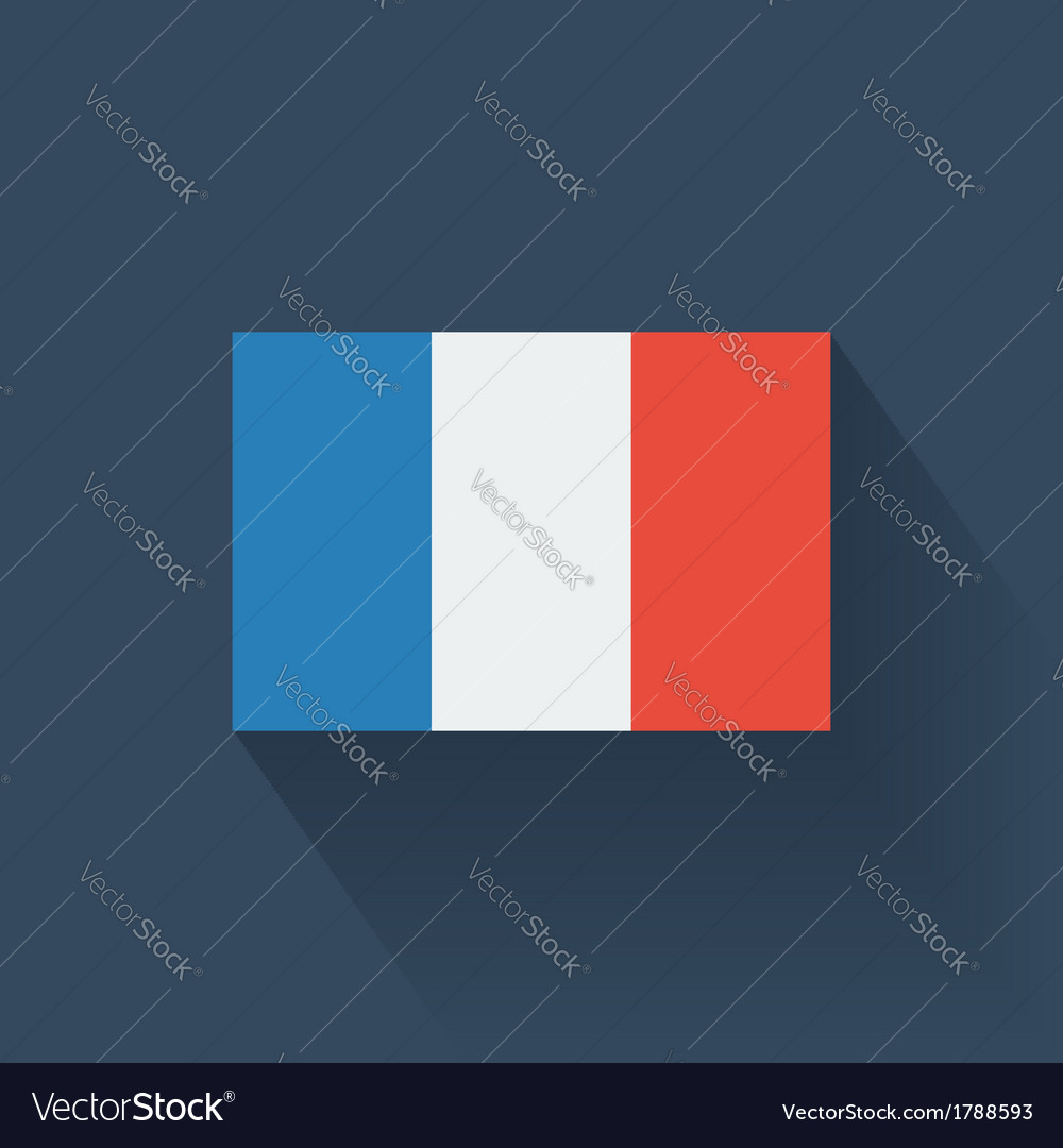 Flat flag of france vector | Price: 1 Credit (USD $1)