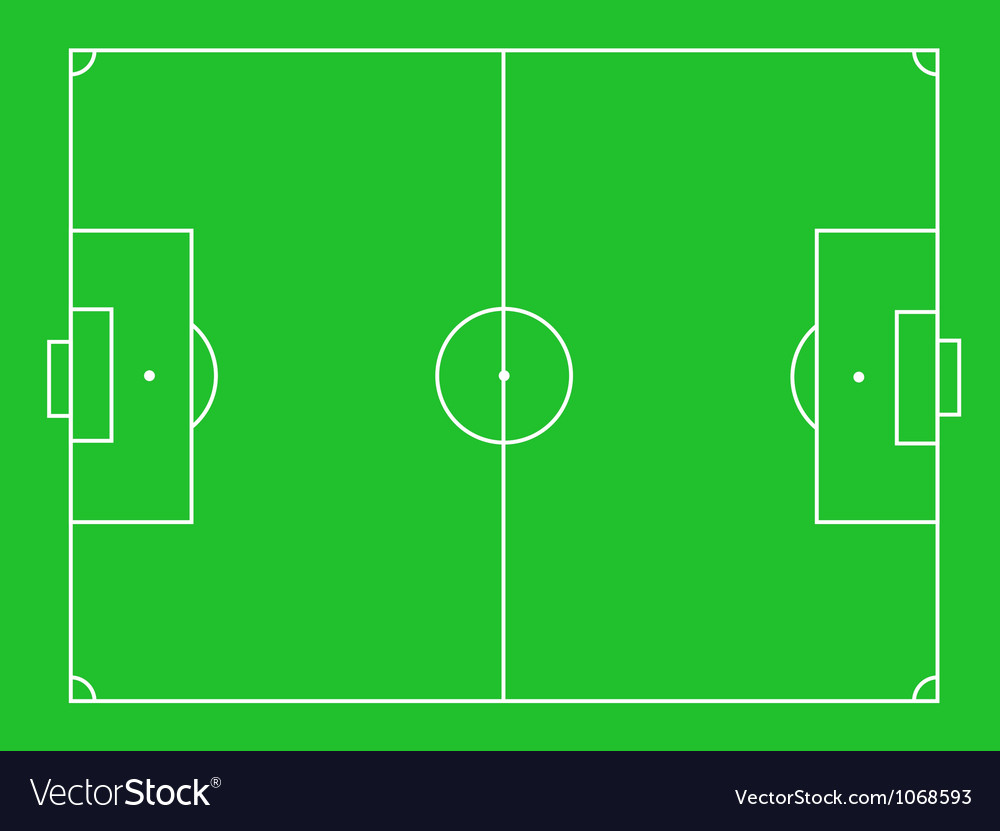 Green grass football field vector | Price: 1 Credit (USD $1)