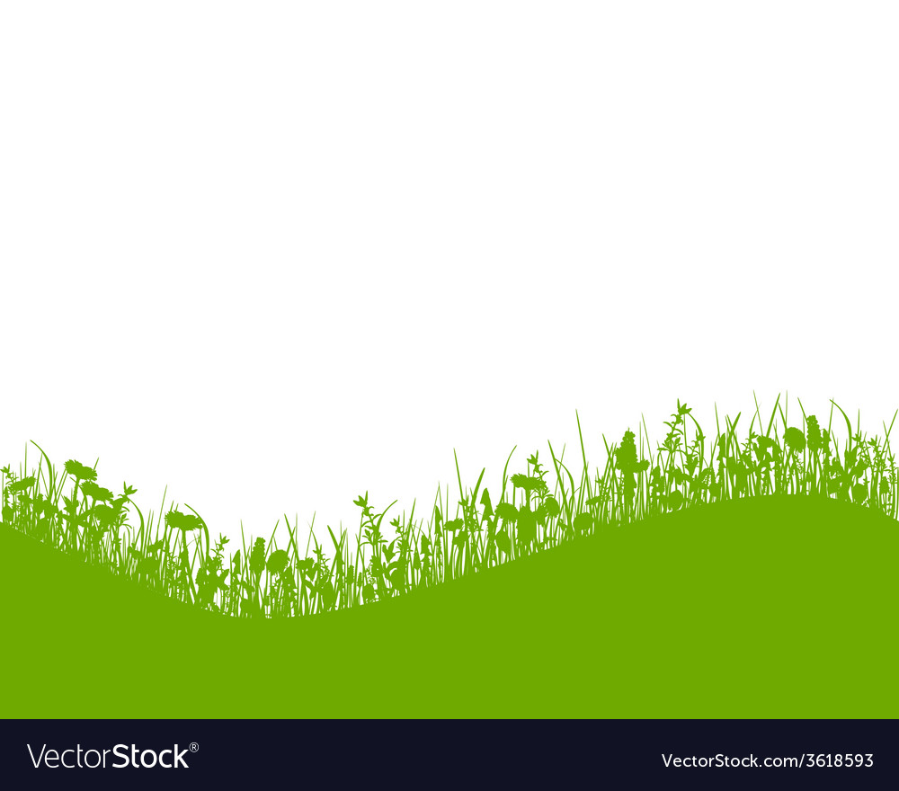 Meadow with hill vector | Price: 1 Credit (USD $1)