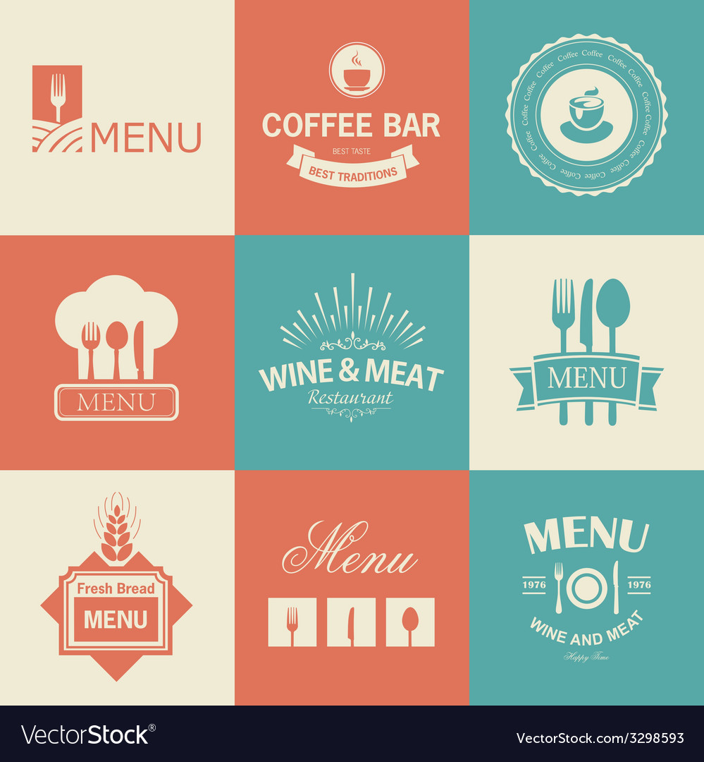 Restaurant signs vector | Price: 1 Credit (USD $1)
