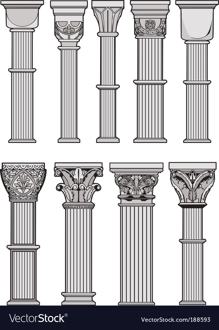 Roman columns vector | Price: 1 Credit (USD $1)