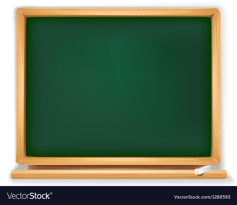 School board with piece of chalk vector | Price: 1 Credit (USD $1)
