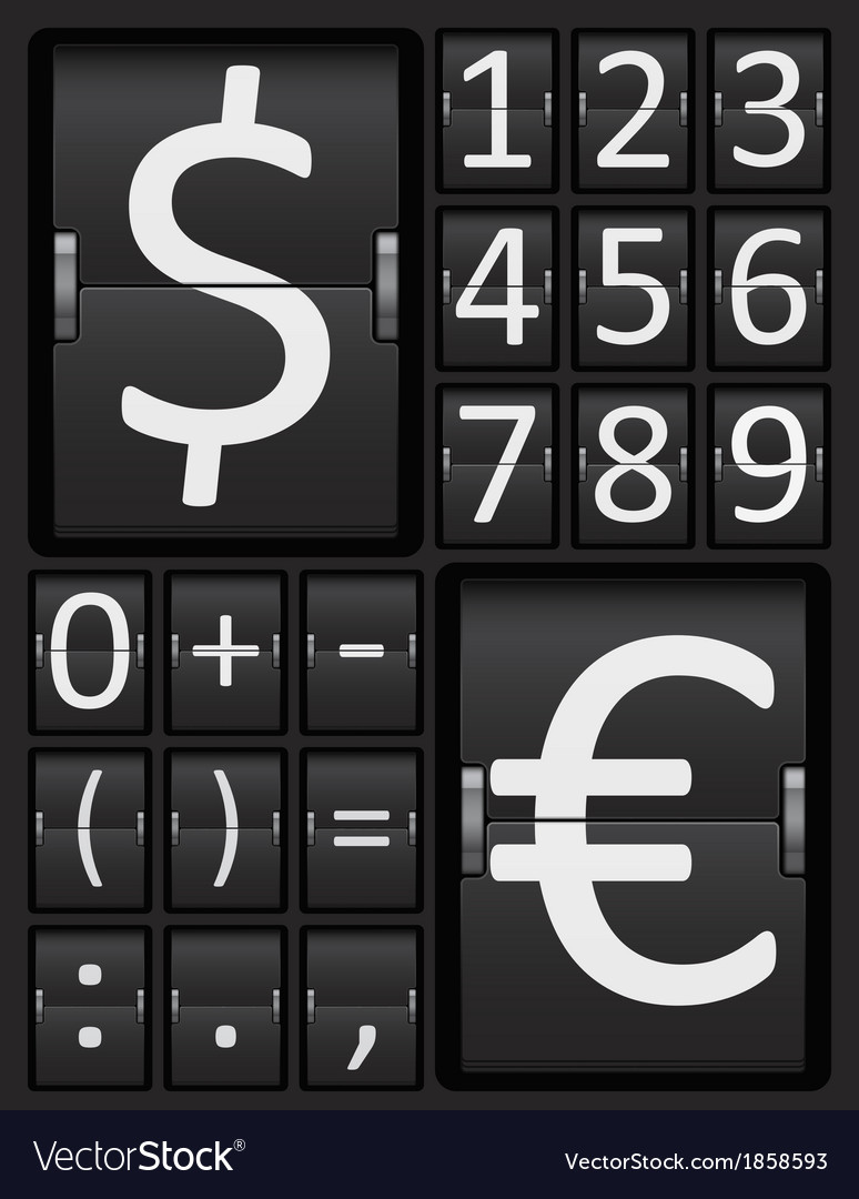 Scoreboard mechanical panel - numbers vector | Price: 1 Credit (USD $1)