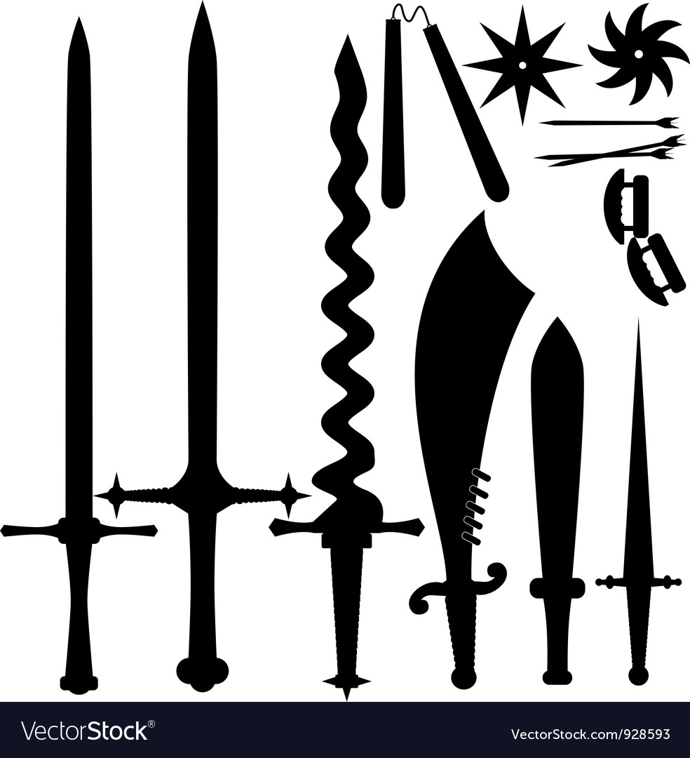 Set of knives eps10 vector | Price: 1 Credit (USD $1)